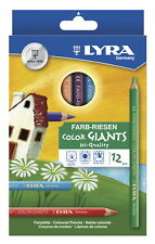 Lyra Color Giants Hexagonal Non-Toxic Drawing Pencil, 10 mm Dia X 17.5 cm L,