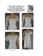 Ladies Regency and Romantic Era Corset Laughing Moon Sewing Costume Pattern 115