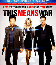 NEW - This Means War (Blu-ray / DVD + Digital 2012) Chris Pine Reese Witherspoon