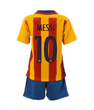 NEW Barcelona #10 Messi Yellow Away Kids Soccer Jersey, Shorts Youth Sizes