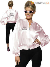 Grease Pink Ladies Jacket Licensed Adult Fancy Dress Costume Womens Outfit