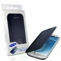 OFFICIAL SAMSUNG GALAXY S3 i9300 SIII CHROME BLUE FLIP CASE COVER RETAIL PACK