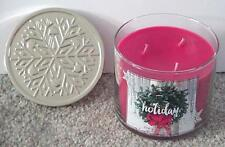 BATH & BODY WORKS 3 WICK 14.5 CANDLE 2015 CHRISTMAS WINTER *HOLIDAY*