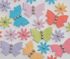 40-edible Butterflies and Flowers Cake/Cupcake Toppers