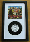 THE BEATLES Sgt Pepper's Lonely Hearts Club Band FRAMED CD Disc Presentation