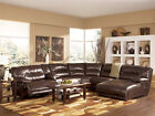 ELEMENTS-Genuine Leather Recliner Sofa Couch Sectional Set Living Room Furniture