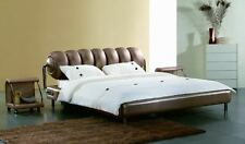 BARCELONA LUXURY LEATHER BED WITH A MEMORY FOAM MATTRESS