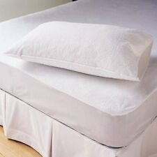 100% Waterproof Terry Towelling Fitted Sheet Mattress Protector Cotton All Sizes