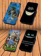 Alice in Wonderland Cheshire Cat- Faux Leather Flip iPhone & Samsung Galaxy Case