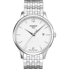 Tissot T063.610.11.037.00 Men Tradition Silver Stainless Steel Band with White