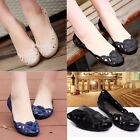 Fashion Women Casual Flat Shoes Crystal Jelly Hollow Slip-on Sandals Flip Flops
