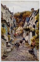 Clovelly, Devon, England Art Postcard by A R Quinton - The High Street