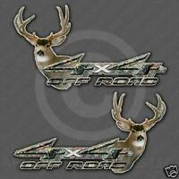 Mule Deer Sticker - 4x4 camo truck hunting decal