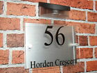 House Sign with Solar Light / Modern House Sign / House Plaque / House Number
