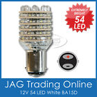12V 54-LED BA15D WHITE GLOBE - Boat/Anchor/Stern/Caravan/Marine/Cabin Light Bulb