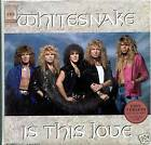 "WHITESNAKE, x-Deep Purple, Japan poster 7"" 45 IS THIS LOVE, hard rock"