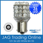 12V 36 LED BA15S 1156 WHITE GLOBE Automotive/Car/Caravan/Boat/Trailer Light Bulb