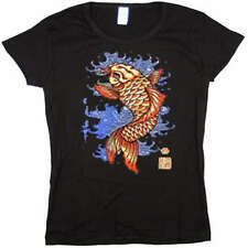 Japanese Koi Fish Jr Baby Doll Tee JUNIOR SIZE T-SHIRT
