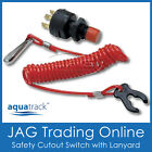 12V ENGINE SAFETY CUT-OUT IGNITION KILL SWITCH/LANYARD - Boat/Outboard/PWC