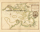 1758 NAUTICAL MAP BAY FORT DE FRANCE VILLAGE MARTINIQUE