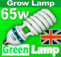 65w Blue Spectrum 6400k CFL grow light lamp bulb ES E27