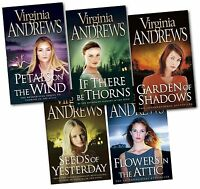 Flowers in the Attic Virginia Andrews 5 Books Set Petal on the Wind Dollanger