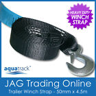 4.5M x 50mm AQUATRACK BOAT TRAILER WINCH WEBBING STRAP & SNAP HOOK