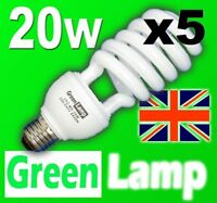 5x 20w =  100w Day-light Energy Saving CFL SAD bulb E27