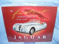 Metal Advertising Car Garage Sign Jaguar XK Super Sport