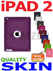Amzer Purple Silicone Skin Jelly Case For Apple iPad 2