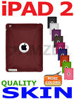 Amzer Maroon Red Silicone Skin Case For Apple iPad 2