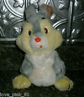 "10"" VINTAGE WALT DISNEY WORLD LAND GRAY THUMPER STUFFED ANIMAL PLUSH TOY BAMBI"