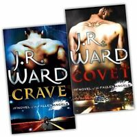 J.R Ward 2 books Set Fallen Angels Collection Pack Covet, Crave New