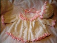 BABY OR REBORN RUFFLES AND LACE KNITTING PATTERN