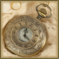 vintage antique pocket watch on chain 001