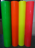 A4 SHEET OF FLUORESCENT SELF ADHESIVE VINYL STICKY BACK
