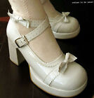 SWEET LOLITA PRINCESS BOW shoe PATENT WHITE