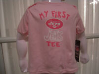 """NWT Reebok NFL Infant Girls """"My First Jets Tee""""- 12-24 mos"""