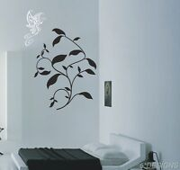 Butterfly Wall Stickers Decal Art Decals Plant Vines Flowers Butterflies