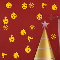 Xmas Christmas Decorations Reindeer Baubles Wall art Stickers Decal Vinyl