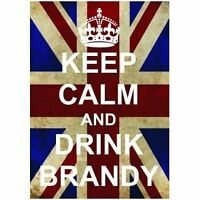L2519 LARGE KEEP CALM DRINK BRANDY FUN UNION JACK METAL SIGN NEW