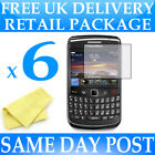 6 x Anti Scratch Screen Protectors for Blackberry 9780 Bold - Display Savers