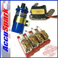 Ford Pinto Stealth Electronic ignition kit+Plugs+Blue Sports coil for Motorcraft