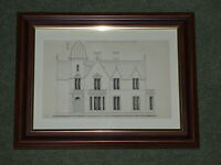 Print over 125 years old Elizabethan Architecture (available also unframed)