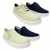 Mens Canvas Lace Up Slip On Deck Boat Loafers Yachting Shoes Plimsoles UK 7-12