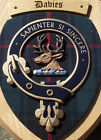 Scottish Gifts Davies Family Clan Crest Wall Plaque