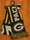"""Green Bay Packers Knit Winter Neck Scarf NEW NFL 65"""" 2011 Great Design!"""