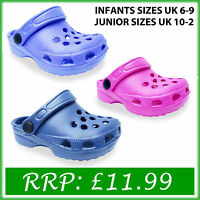 New Kids Boys Girl Clogs Beach Holiday Shoes Size UK 6 7 8 9 10 11 12 13 1 2