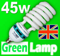 10 x 45W Blue Spectrum 6400k CFL grow light lamp bulb BC B22