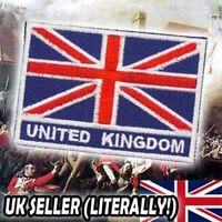 UNION JACK - Quality Embroidered British United Kingdom Flag 'Iron-On' Patch!